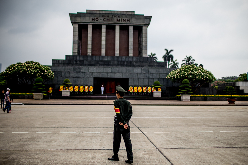 The iconic Ba Dinh Square in Hanoi.